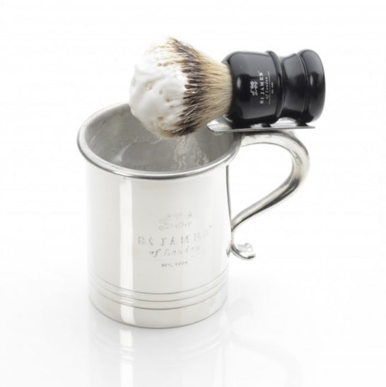 Pewter Mug w/ Brush Holder
