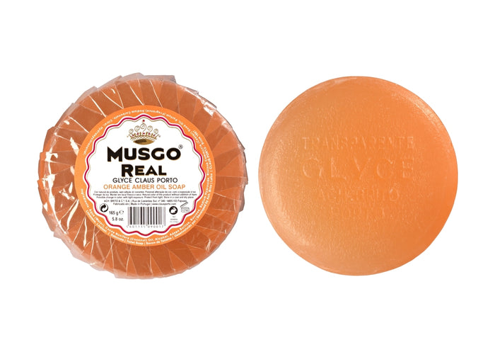 Musgo Real, Glycerine Orange Amber Oil Soap 165g