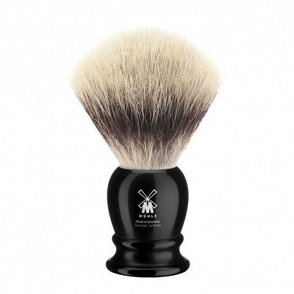 MÜHLE Mens Shaving, 35K256 Shaving Brush Synthetic - Black Premium