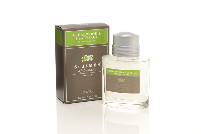 St James of London, Cedarwood & Clarysage Post-shave Gel 100ml
