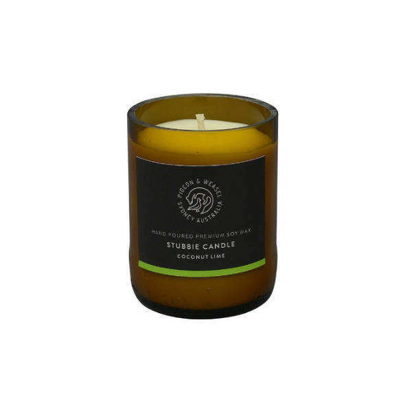 Pigeon and Weasel, Coconut Lime Stubbie Candle 150g