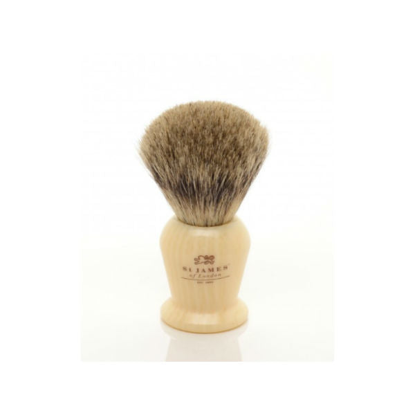 St James of London, Pure Shaving Brush Faux Ivory