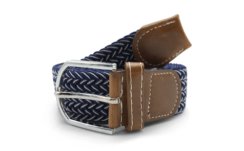 The Otto Navy & White Canvas Belt