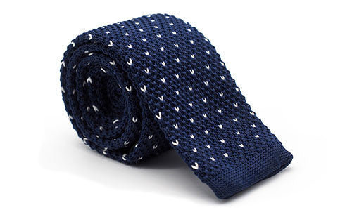 Dapper Vigilante, Dapper Vigilante The Sedgewick Navy & Triangles Knit Tie