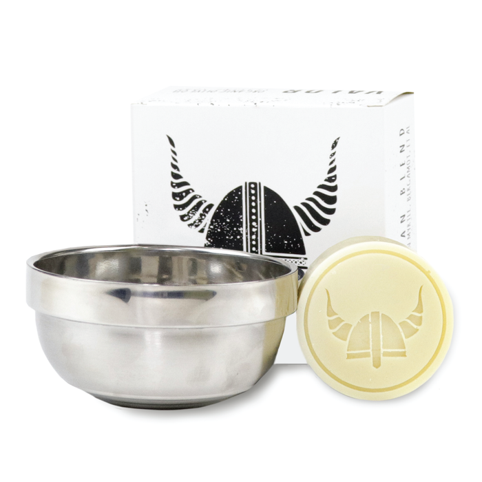Valor, Valor Shaving Puck 100g + Steel Bowl (Woodsman)