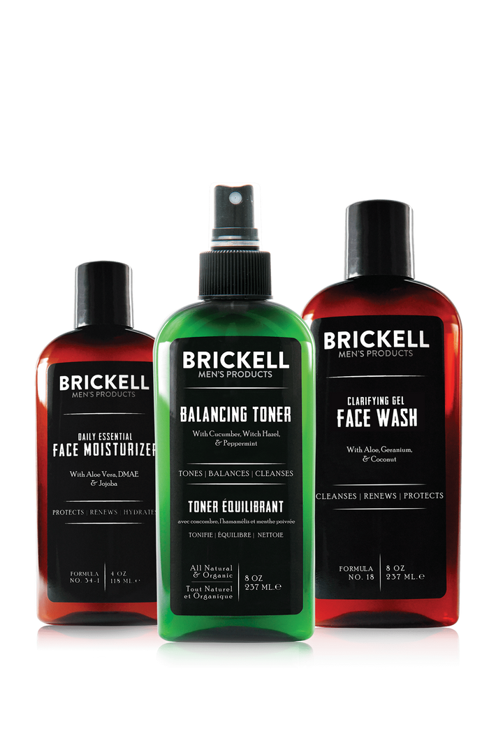 Brickell, Brickell Men's Daily Face Cleanse Routine for Oily Skin