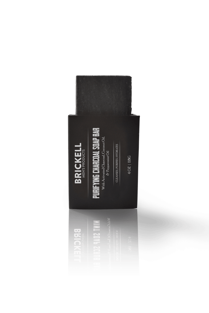 Brickell, Brickell Purifying Charcoal Soap Bar 118g