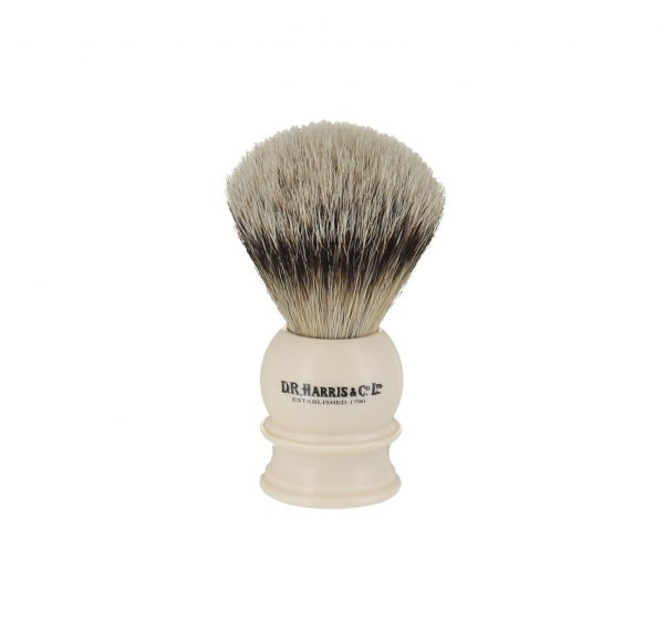 D.R. Harris E2 Silver Tip Shaving Brush Ivory