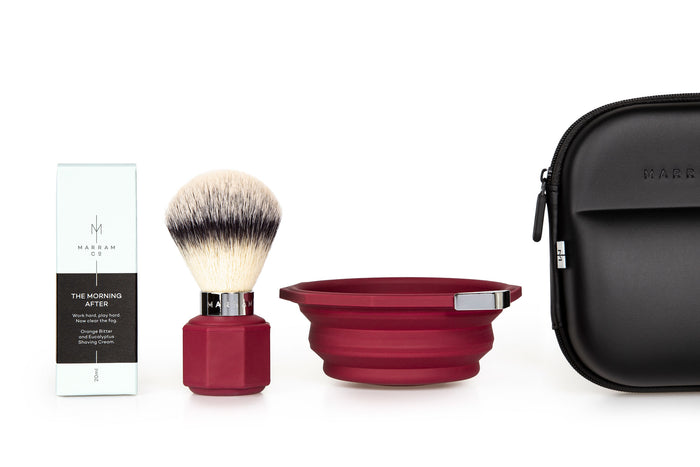 Marram Co, Marram Co Pop Shaving Kit Aubergine