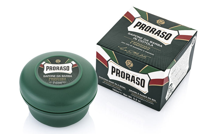 Proraso Shaving Soap in a Bowl Eucalyptus Oil and Menthol 150ml