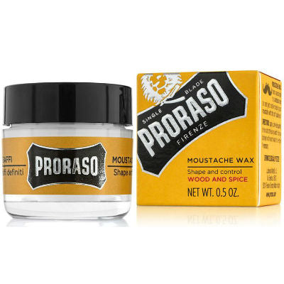 Proraso, Wood and Spice Moustache Wax Soft 15ml