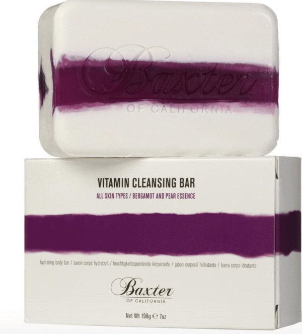 Baxter Vitamin Cleansing Bar Bergamot and Pear 198g