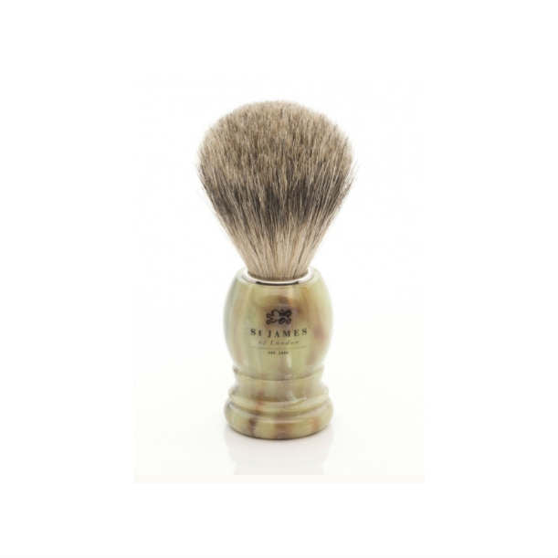 Super Badger Tawny Horn Brush
