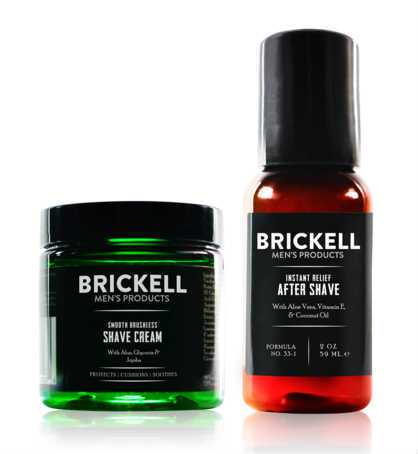 Brickell, Brickell Men's Smooth Brushless Shave Routine