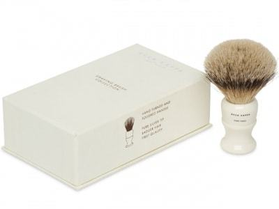 Ivory Shave Brush - Badger Hair