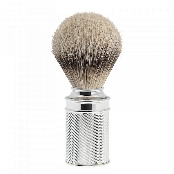 M89 Chrome Plated Shaving Brush - Silver Tip