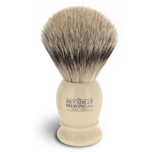 The Piccadilly Shaving Co., Faux Ivory Super Badger Shaving Brush