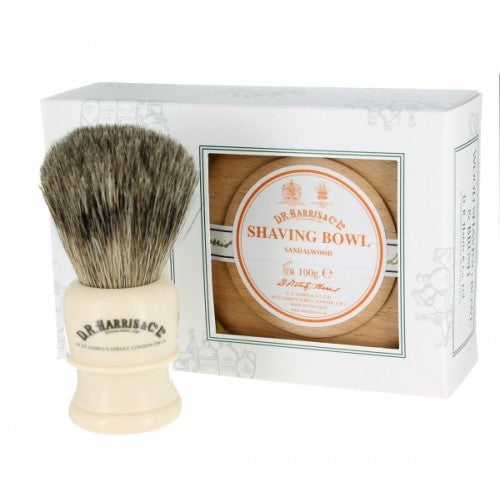 D.R. Harris, Gift Set Beech Bowl - Sandalwood