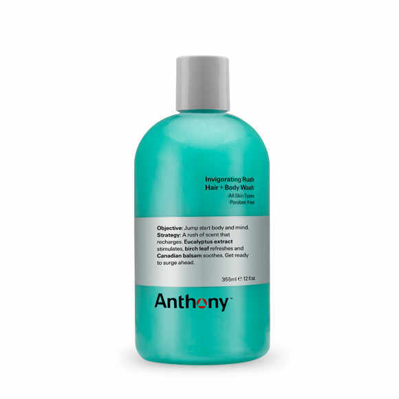 Anthony Logistics, Invigorating Rush Hair & Body Wash 355ml