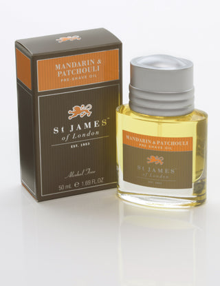 St James of London, Mandarin & Patchouli Pre-shave Oil 50ml