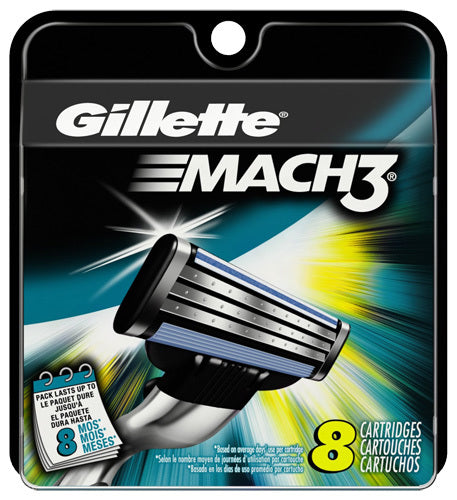 Gillette Mach 3 8 Cartridge Blades