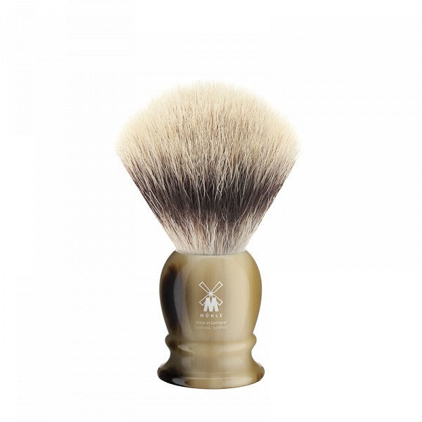MÜHLE Mens Shaving, 31K252 Shaving Brush Synthetic - Horn Brown