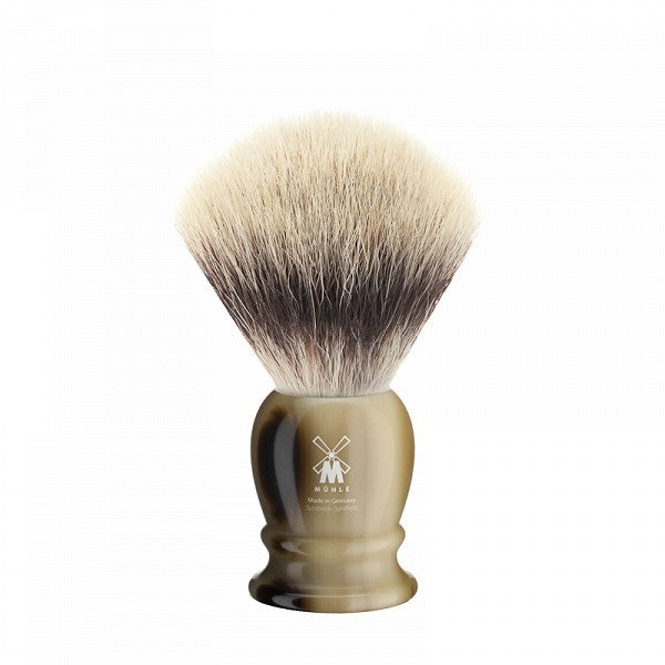 MÜHLE Mens Shaving, 33K252 Shaving Brush Synthetic - Horn Brown Long