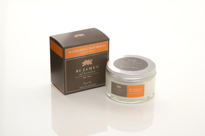 St James of London, Mandarin & Patchouli Shave Cream Jar 150ml