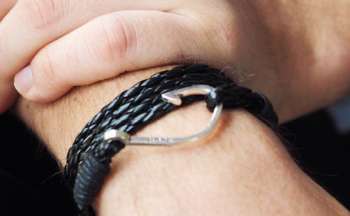 The Winston Black Leather Bracelet