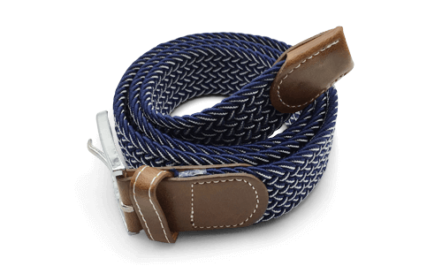 Dapper Vigilante, Dapper Vigilante The Otto Navy & White Canvas Belt