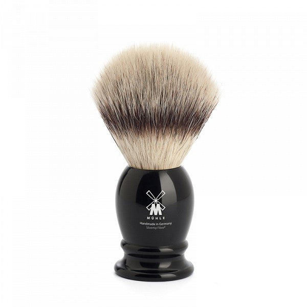 MÜHLE Mens Shaving, 31K256 Shaving Brush Synthetic - High Grade Resin Black