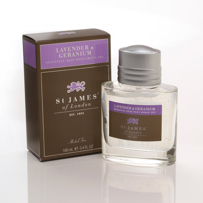 St James of London, St James Lavender and Geranium Post-Shave Gel 100ml