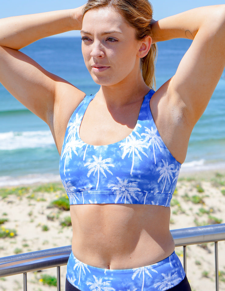 Blue Hawaii Crop Top