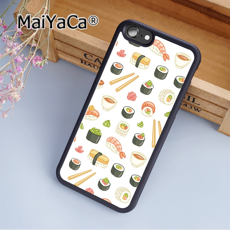 MaiYaCa Food Fruit Pineapple Lemon Banana Cactus Strawberry Sushi Soft Rubber cell phone Case Cover For iPhone 6 Plus