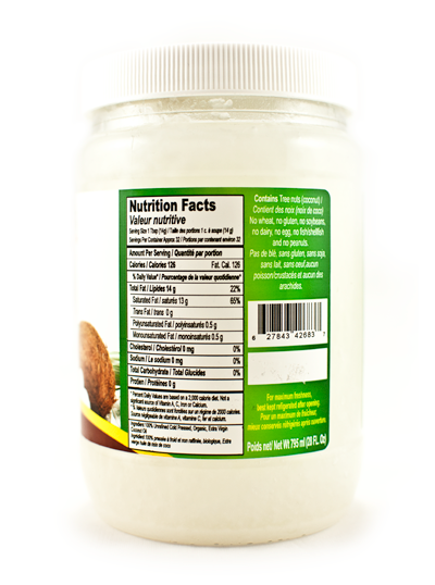 Oaks Organic EV Coconut Oil 28 Oz