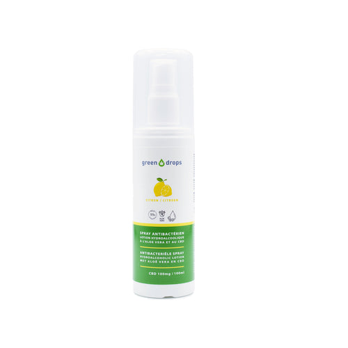 Spray Antibactérien à l'Aloe vera et au CBD Green Drops 100ml