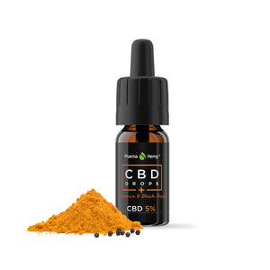 Huile 5% CBD Curcuma Pharmahemp 10 ml | Green Doctor