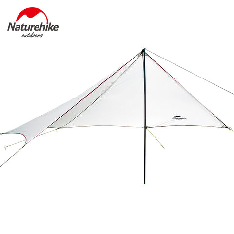Single Pole Batwing Awning