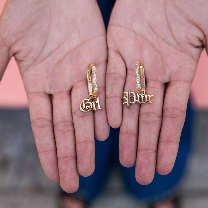 'Say Something' GRL PWR earrings- GRL Collective