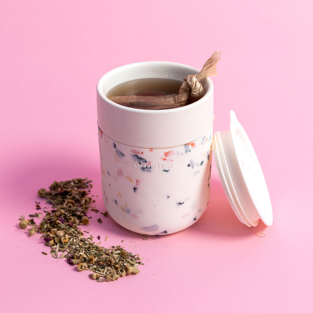 Porter x Grl Collective Sereni-Tea Terrazzo Cream Tea Tumblr