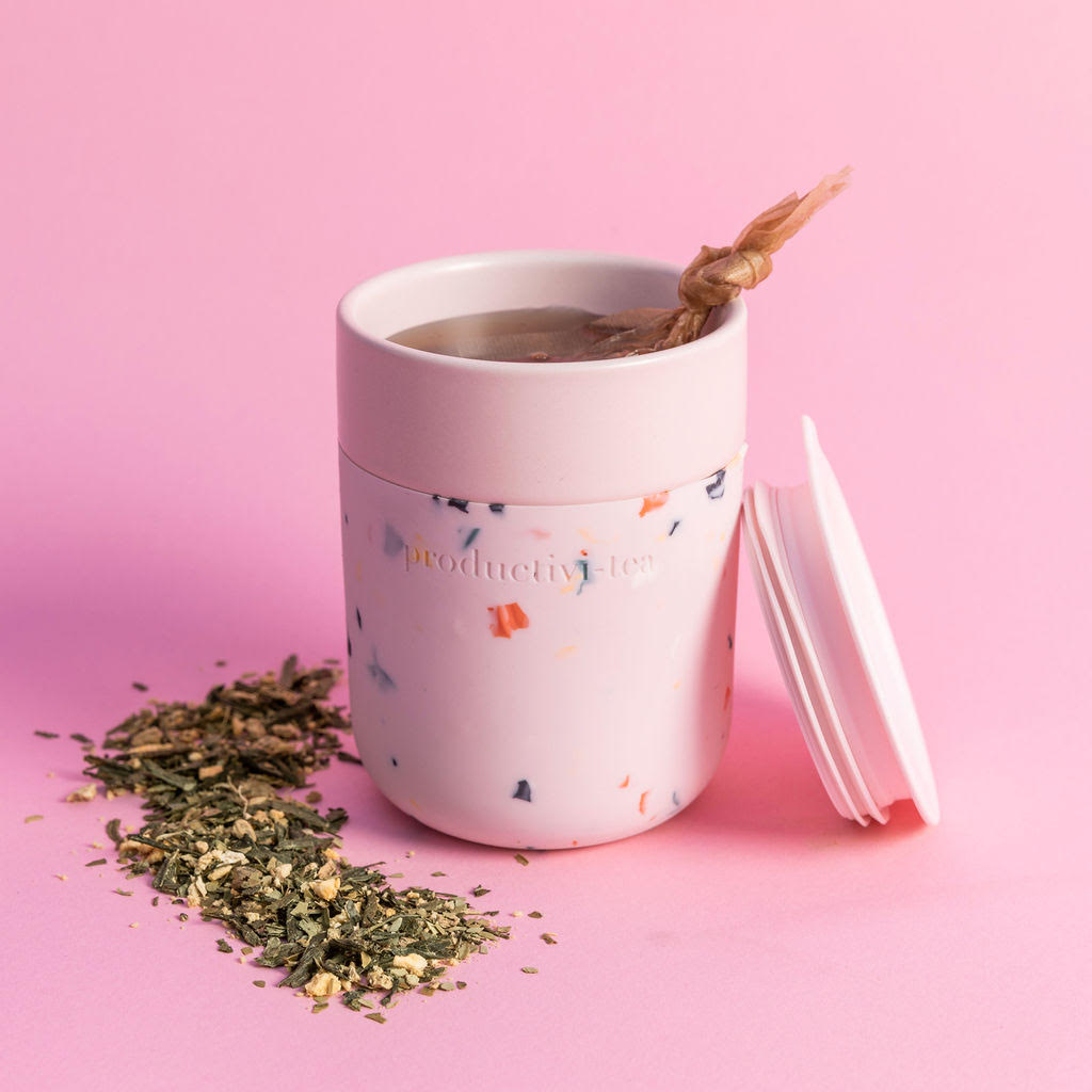 Porter x Grl Collective Productivi-Tea Terrazzo Blush Tea Tumblr