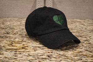 Black Dad Hat w/ Green Logo