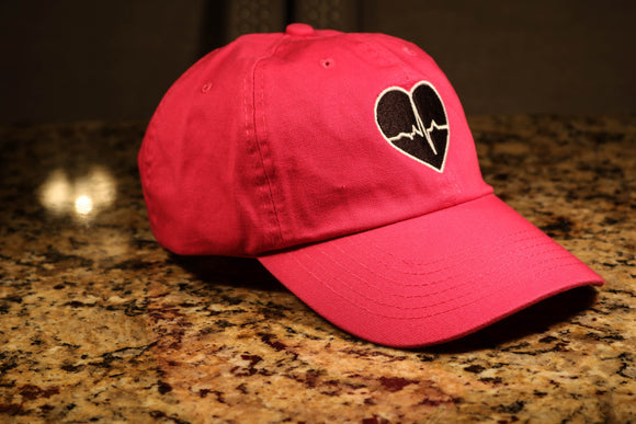 Hot Pink Dad Hat w/ Black Logo