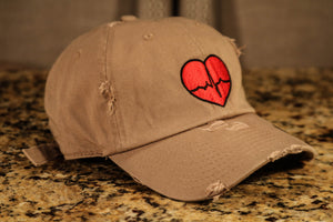 Khaki Dad Hat w/ Traditional Logo