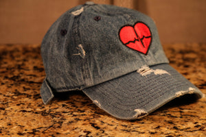 Denim Dad Hat w/ Traditional Logo