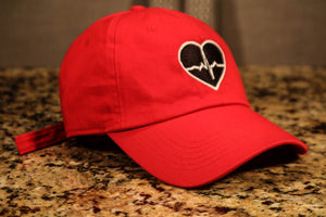 Red Dad Hat w/ Black Logo