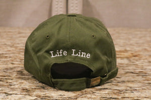 Dark Green Hat w/White Logo