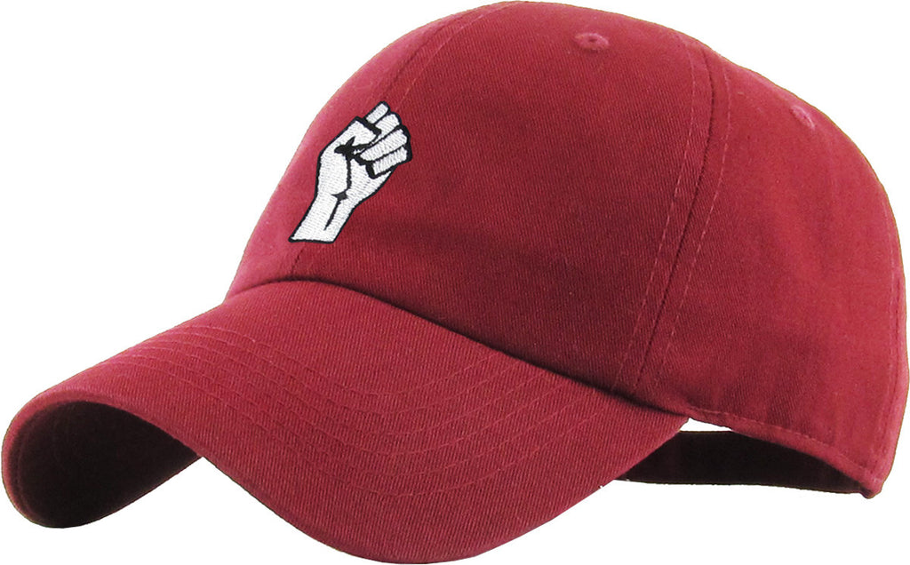 Black Lives Matter Fist - Burgundy Hat