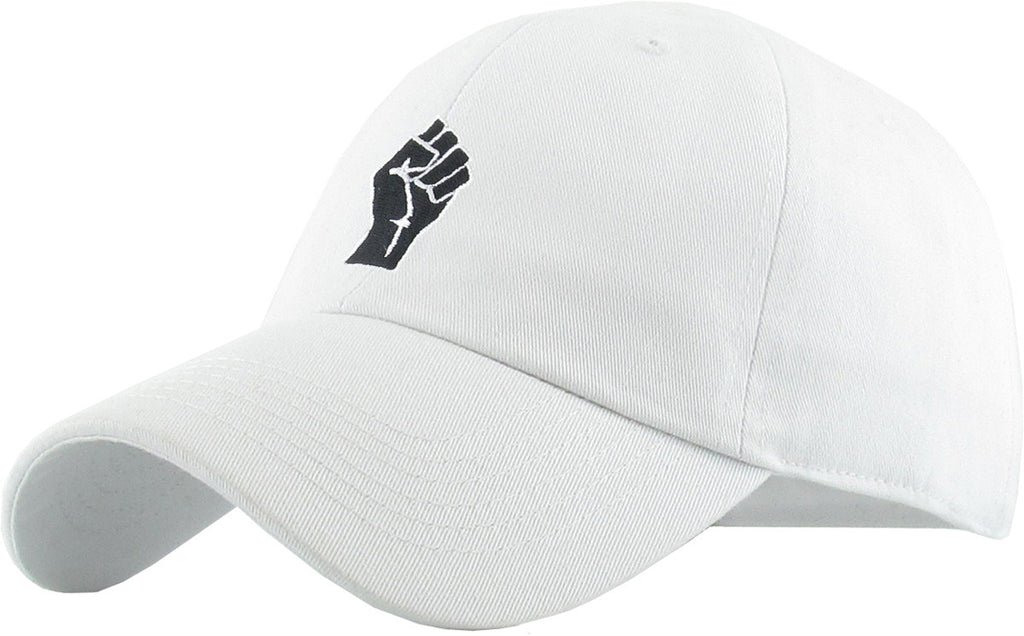Black Lives Matter Fist - White Hat