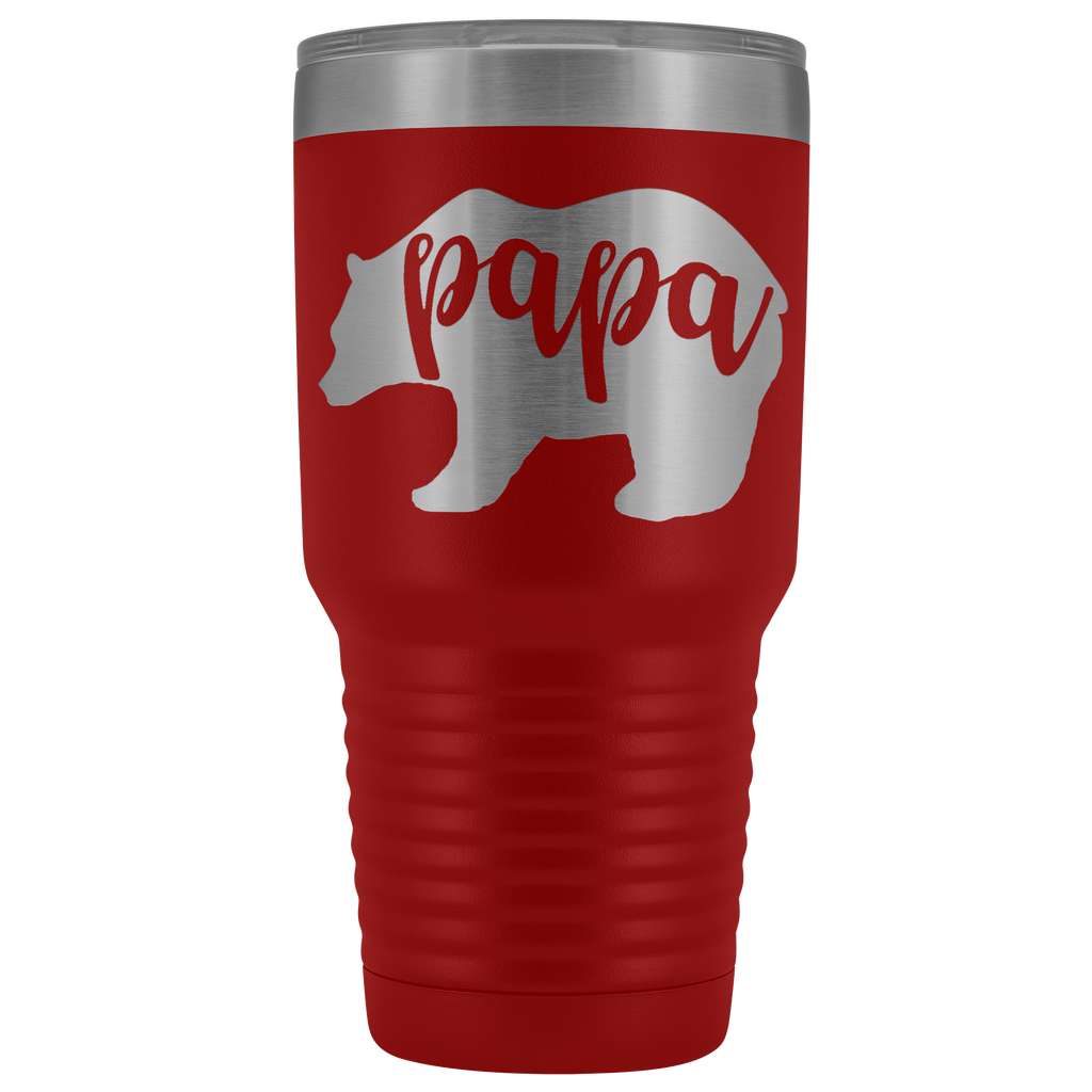 Custom-Designed Papa Bear 30 oz Vacuum Tumbler - Bear Family Collection